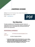 M.shoaib DT Engineer CV