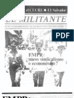 FMPR nuevo sindicalismo o economismo?
