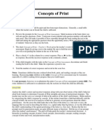 Concepts of Print Assessment