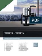 Catalogo de máquinas de Cafe de Siemens
