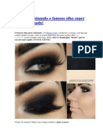 Tutorial de maquiagem para fazer Olho Super Preto Esfumado