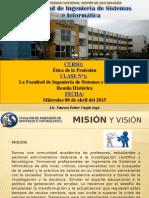 La Facultad de Ingeniaría de Sistemas UNMSM