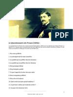 Questionnaire de Marcel Proust