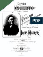 Maurer Violin Concerto Op.59 Violinpart