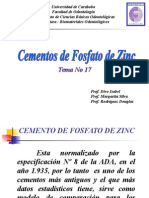 Cementos de Fosfato de Zinc