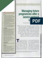 Managing Future Pregnancies