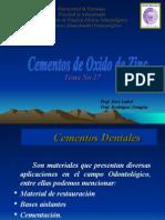 Cementos de Oxido de Zinc