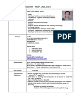 Revised .Dr. Uma Joshi Biodata March 14