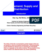 Water Demand and supply intro