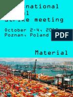 Poznan Material transnantional strike