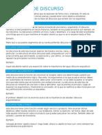 Tipos de Discurso (investigación)