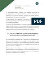Ensayo Admón Pública en Guatemala y Su Impacto en La Eduacion Griselda