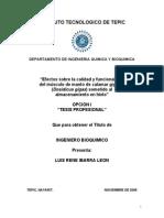 Efectos sobre la calidad y funcionalidad almacenamiento en hieloe La Calidad y Funcionalidad Almacenamiento en Hielo