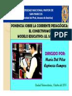 Ponencia_corriente Del Conectivismo