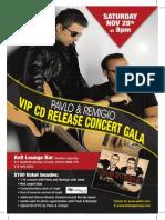 Vip CD Gala Poster 11 x 17