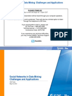 Social Networks in Data Mining s as Talks