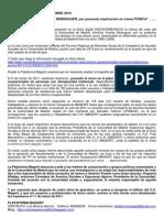 Nota de Prensa (15/10/2015) - Cese Americo Puente, Púnica y algo más