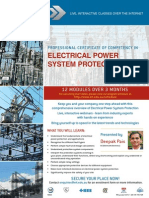 EIT Course Electrical Power Protection CPS Brochure
