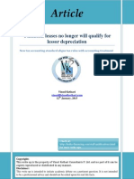 Financial Leases No Longer Will Qualify for Lessor Depreciation