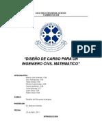 Analisis Diseño de Cargo
