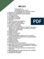 Cuestionario NIF a-3