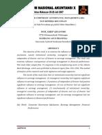 SNA-mekanisme CG, Kinerja Keuangan & Manajemen Laba