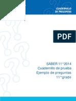 Cuadernillo pruebas  Saber 11 2014
