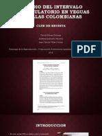 Estudio del intervalo interovulatorio en yeguas criollas colombianas