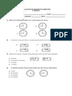 Evaluación de Matemática Medición