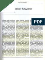 Capítulo Primero. Clásico y romántico. De Argan