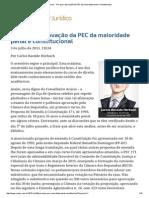Carlos Bastide Horbach. Por Que a Aprovação Da PEC Da Maioridade Penal é Constitucional