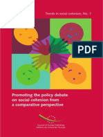 Promoting the policy debate on social cohesion from a comparative perspective