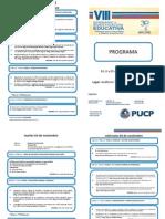 VIII Semianrio de Investigacion Educativa - Programa 2015