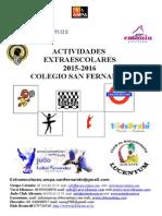Folleto Actividades Extraescolares2015-2016
