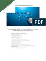 Descarga e Instala Windows 7