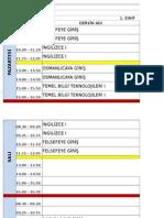 Ders Programi 2015-2016 Güz Son