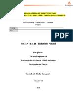 Relatório Parcial Prointer II - Modelo