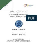 IANLS 2015 Program