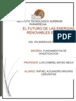 FUTURO DE LAS ENERGÍAS RENOVABLES EN MEXICO