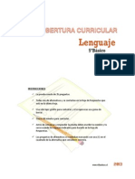 Cobertura Curricular Lenguaje 5basico 2013