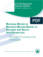 National Review of Restraint Related Deaths of Adults and Children With Disabilities the Lethal Consequences of Restraint