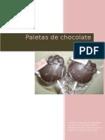 Paletas de Chocolates