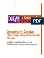 Connections Not Cascades 7 Tips for Prepare Managers to Communication 101815 -Final Web Post