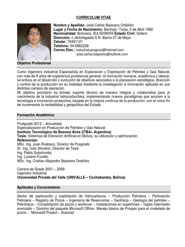 Excepcional Objetivo De Carrera En Cv Para Ingeniero Mecánico Regalo ...