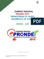 Congreso Prondei 2015 - Proyecto CEIIND