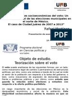 Configuraciones Socioeconómicas Del Voto