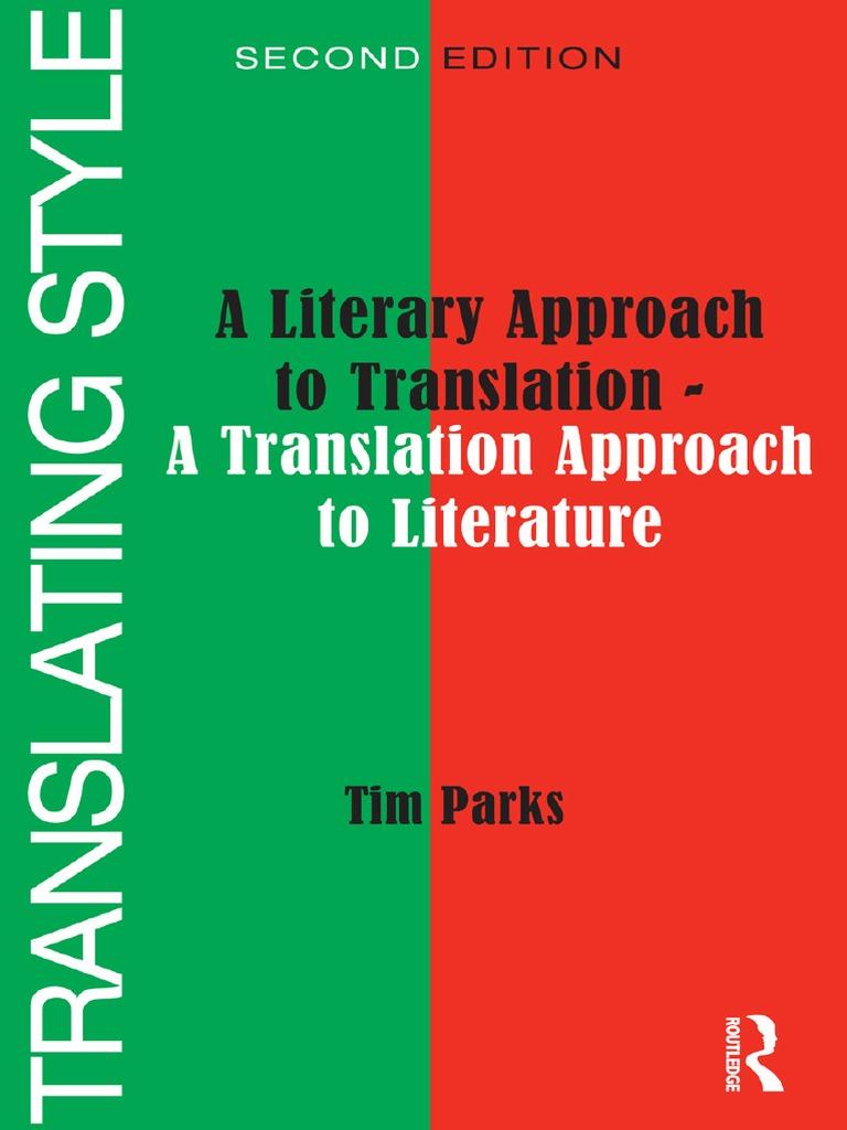 a literary approach to translation translations genre