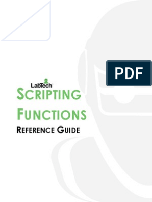 ScriptFunctionGuide_v10 | Parameter (Computer Programming
