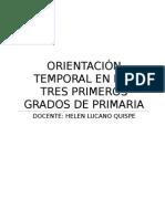 Orientación Temporal En Los Tres Primeros Grados de Primaria