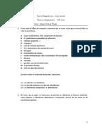 Teste Diagnóstico Quimica 10º Ano